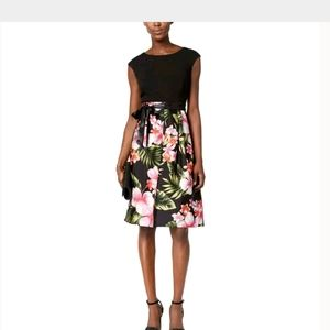 NWT SANGRIA FLARED COCKTAIL DRESS 8